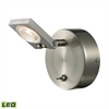 ELK lighting Reilly 1 Light Vanity In Brushed Nickel And Brushed Aluminum