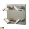 Reilly 4 Light Wall Sconce In Brushed Nickel And Brushed Aluminum