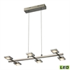 ELK lighting Reilly 6 Light Chandelier In Brushed Nickel And Brushed Aluminum