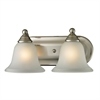 Cornerstone Shelburne 2 Light Bathbar In Brushed Nickel