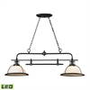 Wilmington 2 Light LED Billiard In Oil Rubbed Bronze