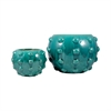Pomeroy Aquatica Set of 2 Planters, Aquamarine