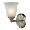 Cornerstone Sudbury 1 Light Bathbar  In Brushed Nickel