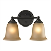 Cornerstone Sudbury 2 Light Bathbar In Oil Rubbed Bronze