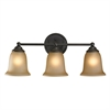 Cornerstone Sudbury 3 Light Bathbar In Oil Rubbed Bronze