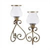 Pomeroy Quartier Set of 2 Lighting, Antique Brass,Clear