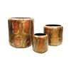 Burnham S3 Nesting Planters, Hammered Burned Copper