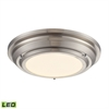 ELK lighting Sonoma 23 Watt LED Flushmount In Brushed Nickel