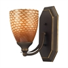 ELK lighting Bath And Spa 1 Light Vanity In Aged Bronze And Cocoa Glass