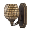 ELK lighting Bath And Spa 1 Light Vanity In Aged Bronze And Gold Leaf Glass