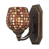 ELK lighting Bath And Spa 1 Light Vanity In Aged Bronze And Multi Fusion Glass