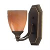 ELK lighting Bath And Spa 1 Light Vanity In Aged Bronze And Sandy Glass