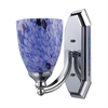 ELK lighting Bath And Spa 1 Light Vanity In Polished Chrome And Starburst Blue Glass