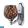 ELK lighting Bath And Spa 1 Light LED Vanity In Polished Chrome And Multi Fusion Glass