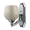 ELK lighting Bath And Spa 1 Light Vanity In Polished Chrome And Silver Glass