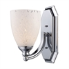 ELK lighting Bath And Spa 1 Light Vanity In Polished Chrome And Snow White Glass