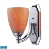 ELK lighting Bath And Spa 1 Light LED Vanity In Polished Chrome And Sandy Glass