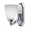 ELK lighting Bath And Spa 1 Light Vanity In Polished Chrome And Simple White Glass