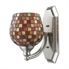 ELK lighting Bath And Spa 1 Light Vanity In Satin Nickel And Multi Fusion Glass