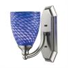 ELK lighting Bath And Spa 1 Light Vanity In Satin Nickel And Sapphire Glass