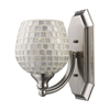 Bath And Spa 1 Light Vanity In Satin Nickel And Silver Glass