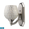 ELK lighting Bath And Spa 1 Light LED Vanity In Satin Nickel And Silver Glass