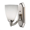 Bath And Spa 1 Light Vanity In Satin Nickel And Simple White Glass