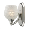 ELK lighting Bath And Spa 1 Light Vanity In Satin Nickel And White Glass