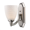 ELK lighting Bath And Spa 1 Light Vanity In Satin Nickel And White Swirl Glass