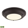 ELK lighting Sonoma 23 Watt LED Flushmount In Oil Rubbed Bronze