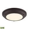 ELK lighting Sonoma 31 Watt LED Flushmount In Oil Rubbed Bronze
