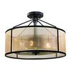 ELK lighting Diffusion 3 Light Semi Flush In Oil Rubbed Bronze
