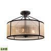 ELK lighting Diffusion 3 Light LED Semi Flush In Oil Rubbed Bronze