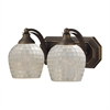 ELK lighting Bath And Spa 2 Light Vanity In Aged Bronze And Silver Glass
