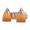 Bath And Spa 2 Light Vanity In Polished Chrome And Cocoa Glass