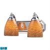 ELK lighting Bath And Spa 2 Light LED Vanity In Polished Chrome And Cocoa Glass
