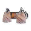 Bath And Spa 2 Light Vanity In Polished Chrome And Creme Glass