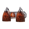 ELK lighting Bath And Spa 2 Light Vanity In Polished Chrome And Espresso Glass