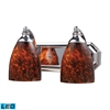 ELK lighting Bath And Spa 2 Light LED Vanity In Polished Chrome And Espresso Glass
