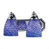 ELK lighting Bath And Spa 2 Light Vanity In Polished Chrome And Sapphire Glass