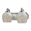 Bath And Spa 2 Light Vanity In Polished Chrome And Silver Glass