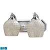 ELK lighting Bath And Spa 2 Light LED Vanity In Polished Chrome And Silver Glass
