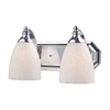 ELK lighting Bath And Spa 2 Light Vanity In Polished Chrome And Snow White Glass