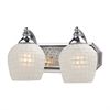 ELK lighting Bath And Spa 2 Light Vanity In Polished Chrome And White Glass