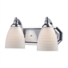 ELK lighting Bath And Spa 2 Light Vanity In Polished Chrome And White Swirl Glass