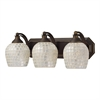 Bath And Spa 3 Light Vanity In Aged Bronze And Silver Glass