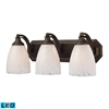 ELK lighting Bath And Spa 3 Light LED Vanity In Aged Bronze And Snow White Glass