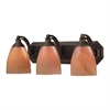 ELK lighting Bath And Spa 3 Light Vanity In Aged Bronze And Sandy Glass