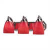 ELK lighting Bath And Spa 3 Light Vanity In Polished Chrome And Scarlet Red Glass