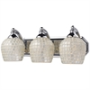 Bath And Spa 3 Light Vanity In Polished Chrome And Silver Glass